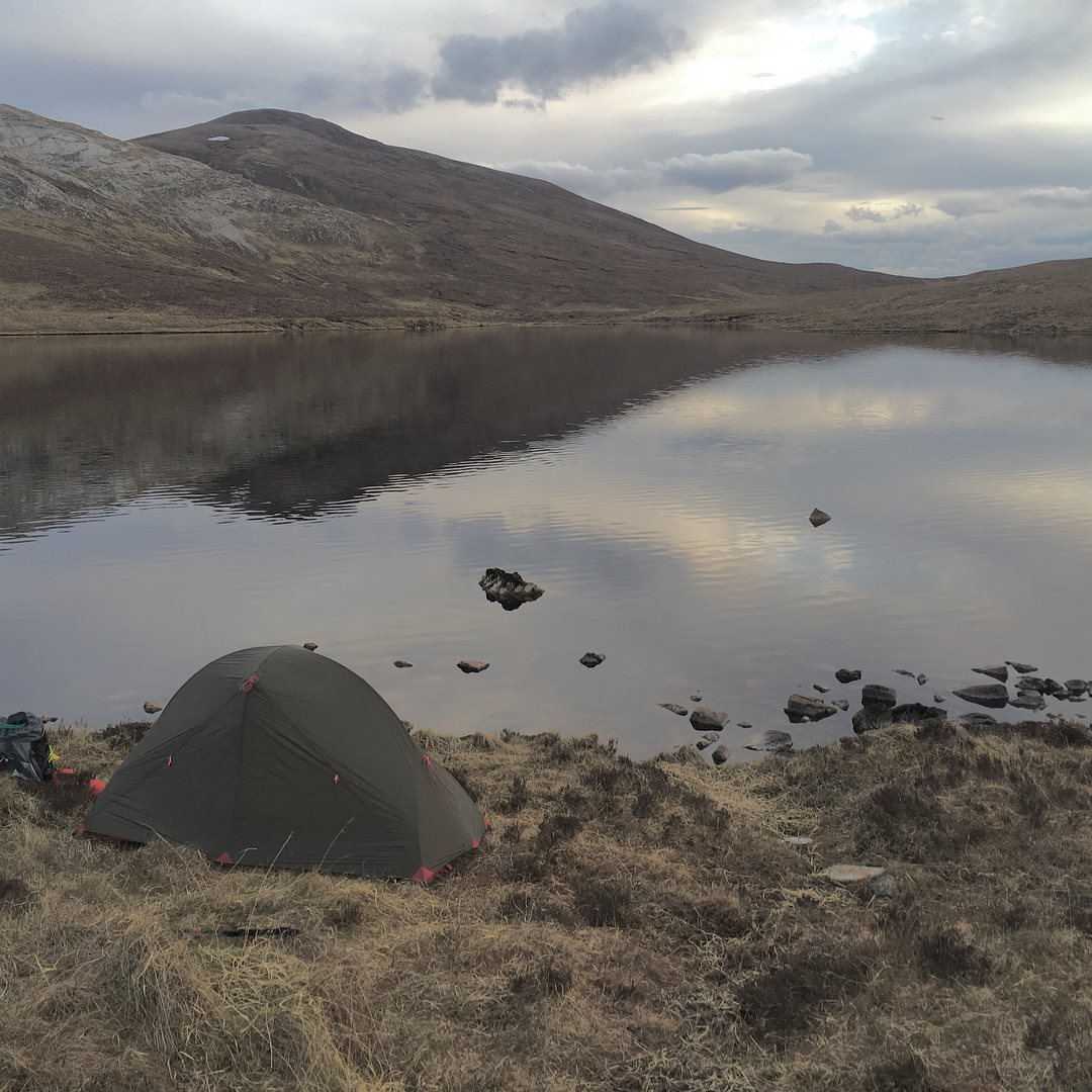 My tent near the Bone Caves, Inchnadamph