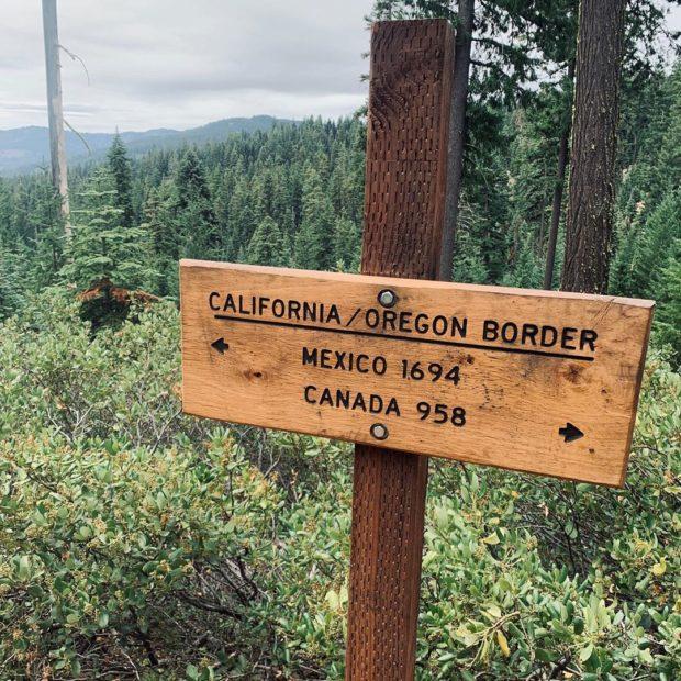 California / Oregon border