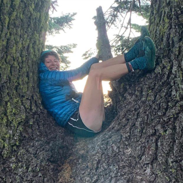 Shona in the tree